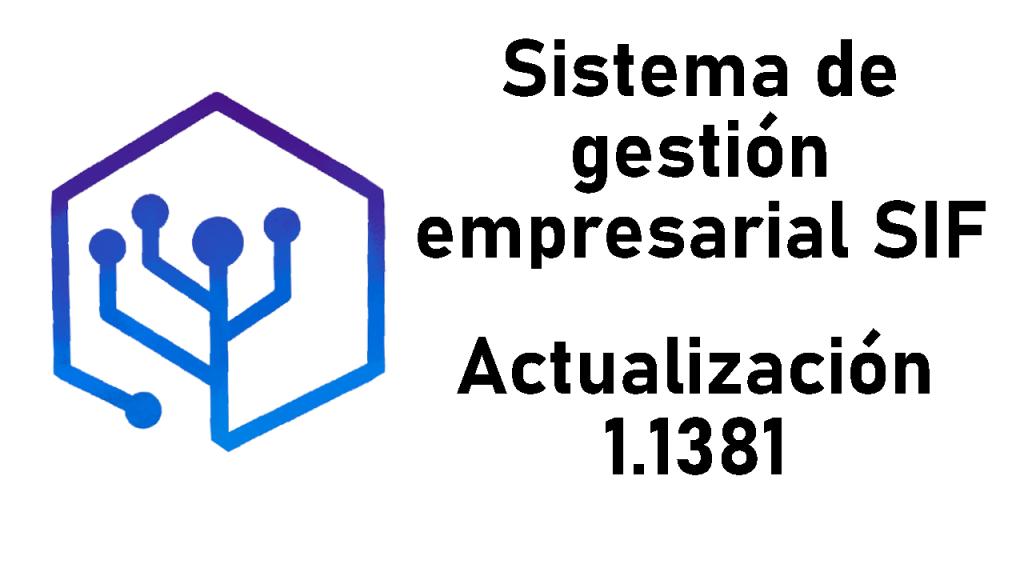 Actualización del SIF 1.1381