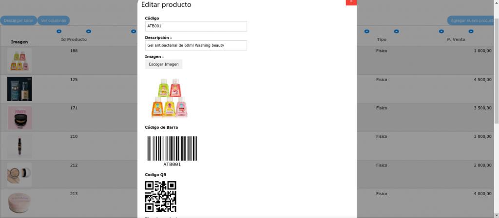 Códigos de Barra, QR, Id de producto, rendimiento – Actualización del SIF 1.14